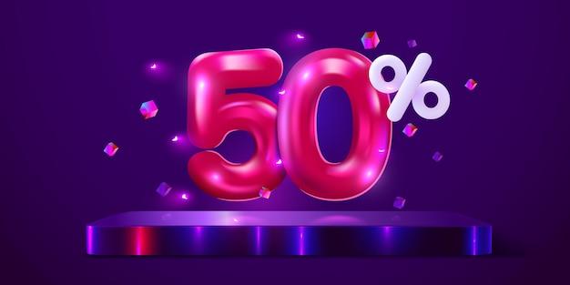 Prozent rabatt auf kreative komposition mega sale neon banner