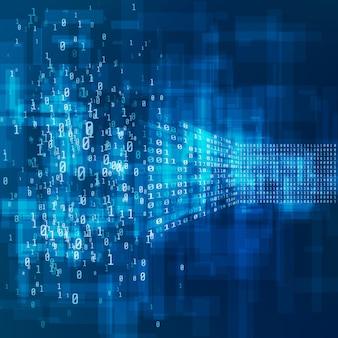 Prozess der konvertierung von big data aus dem chaos in eine logische struktur