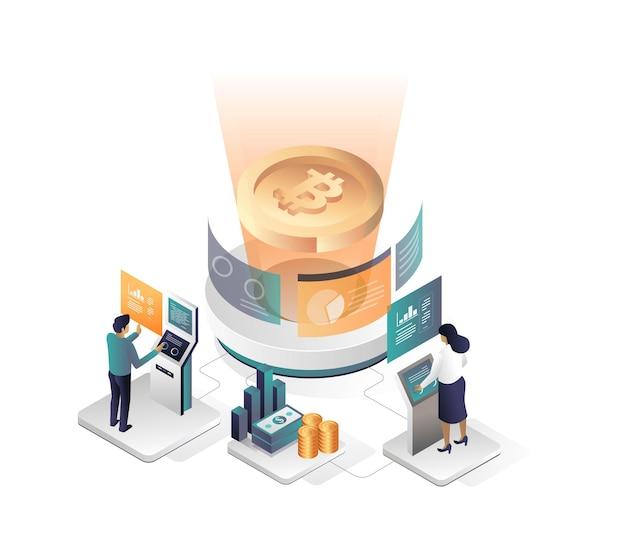 Prozess der umwandlung von bitcoins in dollar