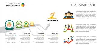 Prozess Infografiken Folie Vorlage