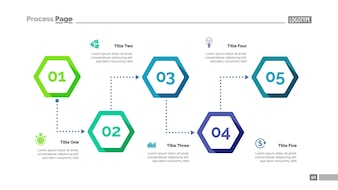 Prozessdiagramm mit fünf Elementen Vorlage