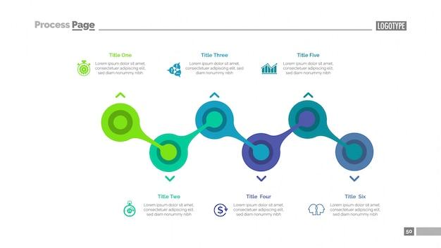 Prozessdiagramm mit sechs-elemente-vorlage