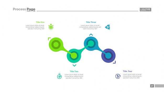 Prozessdiagramm mit vier elementen vorlage