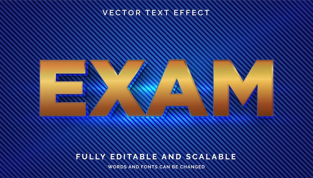 Prüfungstexteffekt mit hellem oder bearbeitbarem text