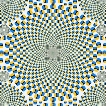 Psychedelische illusion tapete