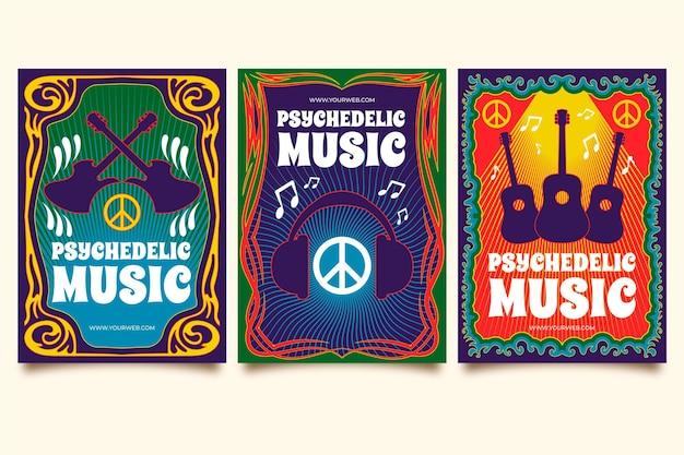 Psychedelische musik umfasst vorlagenpaket
