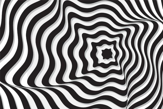 Psychedelische optische hintergrundtäuschung