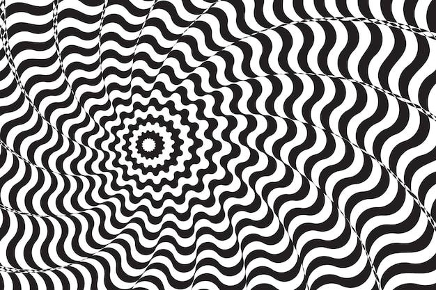 Psychedelische optische täuschung mit abstraktem hintergrund