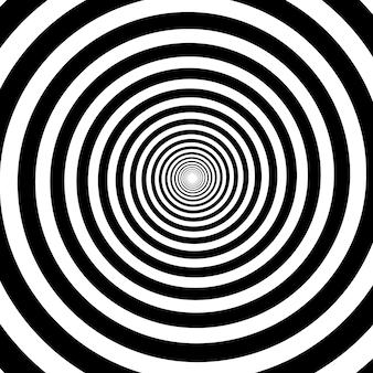Psychedelische spirale mit radialen strahlen