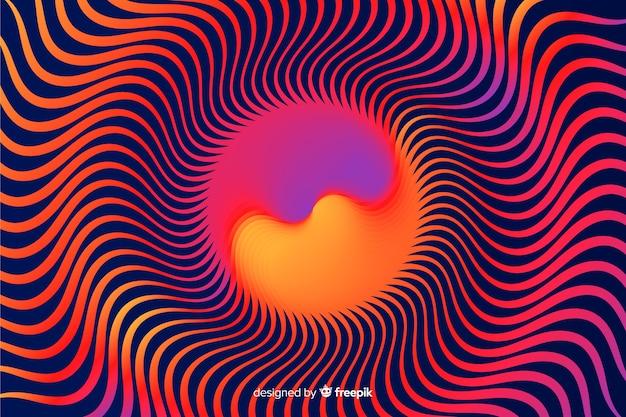 Psychedelischer effekthintergrund der abstrakten steigung