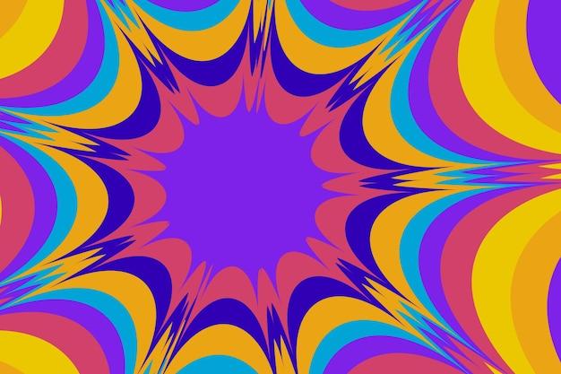 Psychedelischer grooviger handgezeichneter hintergrund