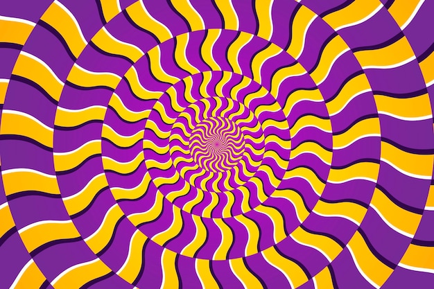 Psychedelischer hintergrund des dynamischen kreisförmigen musters