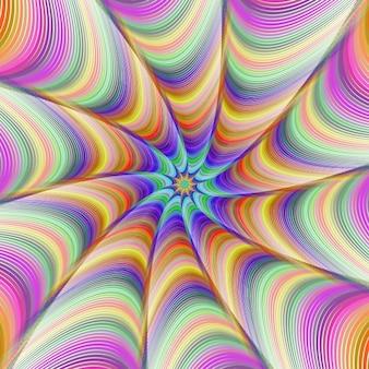 Psychedelischer hintergrund mit verschiedenen farben