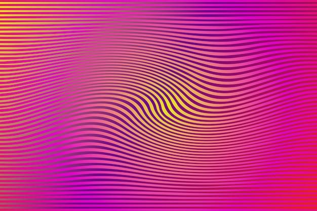 Psychedelischer hintergrund mit verzerrten linien