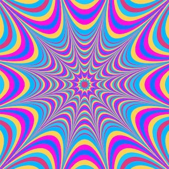 Psychedelisches grooviges hintergrunddesign