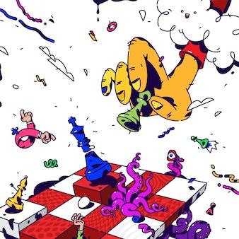Psychedelisches schach.