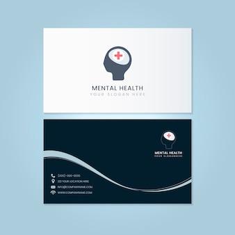 Psychiater-namenskarten-modellvektor der psychischen gesundheit