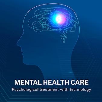 Psychiatrische gesundheitsvorlage medizintechnik
