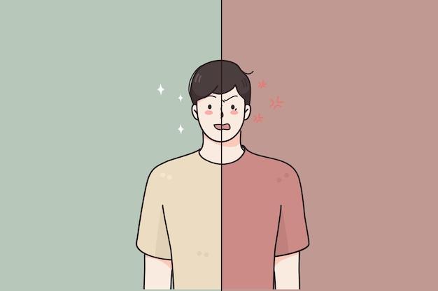 Psychische probleme, konzept der bipolaren störung