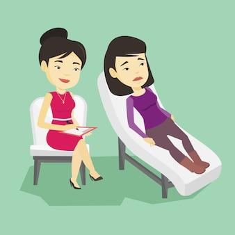 Psychologe mit sitzung mit dem patienten.