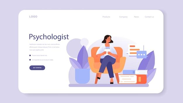 Psychologen-webbanner oder landingpage-diagnose der psychischen gesundheit
