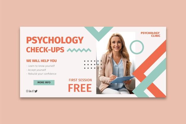 Psychologie-banner-vorlage