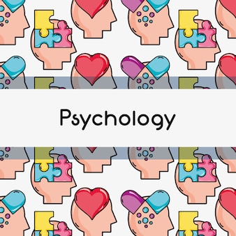 Psychologie-behandlungsanalyse-hintergrunddesign-vektorillustration