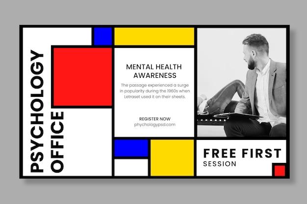 Psychologie büro banner vorlage