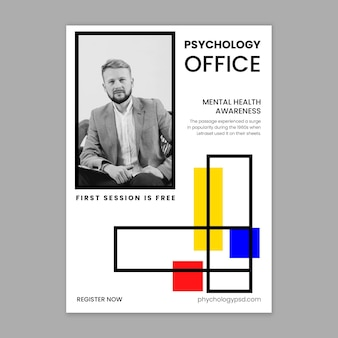 Psychologie büro flyer vorlage