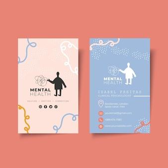 Psychologie doppelseitige visitenkarte