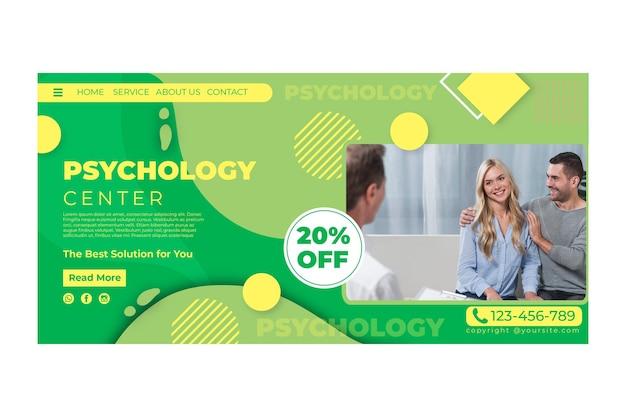 Psychologie landing page vorlage