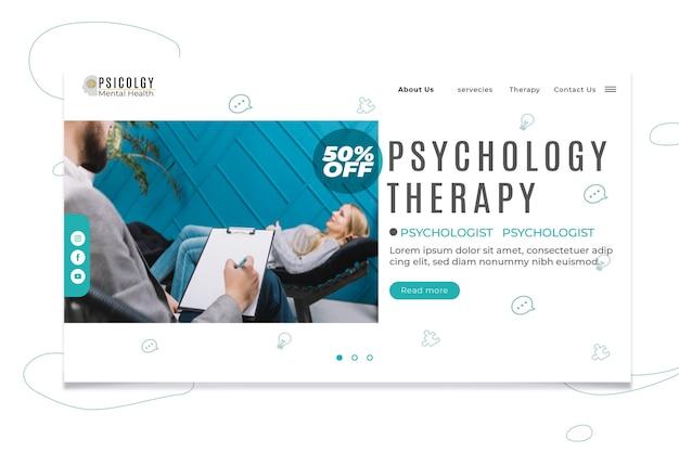 Psychologie landing page