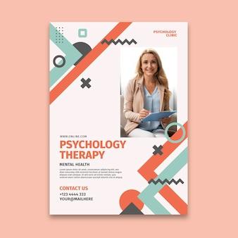 Psychologie-plakatschablone