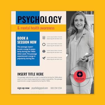 Psychologie quadratischer flyer