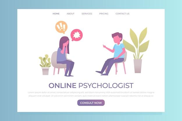 Psychologische hilfe web template design