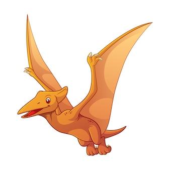 Pterodactyl cartoon illustration