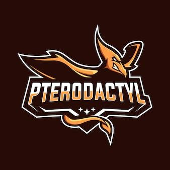 Pterodactyl esport maskottchen logo