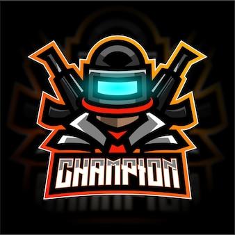 Pubg esport gaming-logo-vorlage