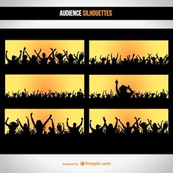 Publikum silhouette gesetzt