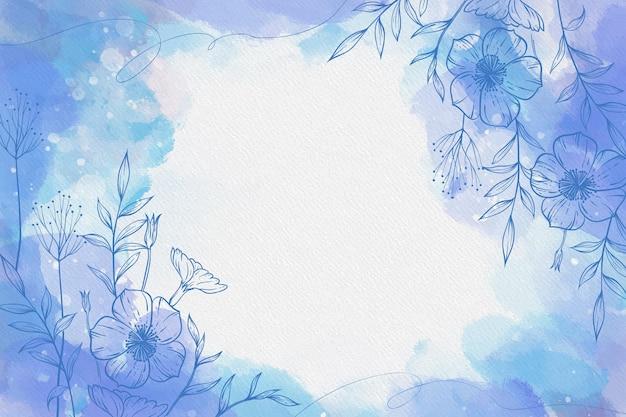 Puderpastell mit handgezeichneten blumen