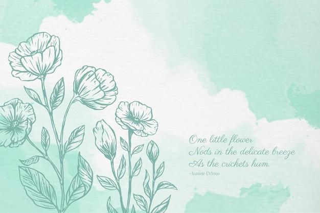 Puderpastellhintergrund mit botanischen elementen