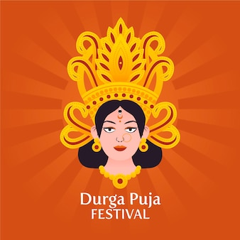 Puja festival illustration