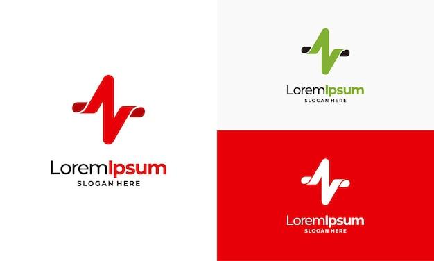 Puls-logo-vorlage, einfache logo-vorlage für das gesundheitswesen, logo-designs für gesundheitszentren illus