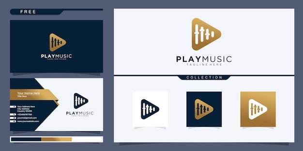 Pulssymbol-logo-design. musik-player-elemente