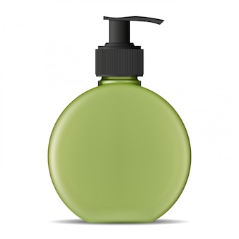 Pumpflasche, seifenspender kosmetikprodukt leer