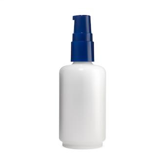 Pumpglas gesicht kosmetikserum flasche hautpflegeprodukt mockup airless spender aromatisches essenz