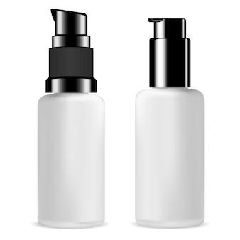 Pumpspenderflaschen-set. glasserumflasche