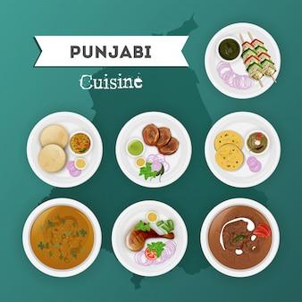 Punjabi-küche eingestellt