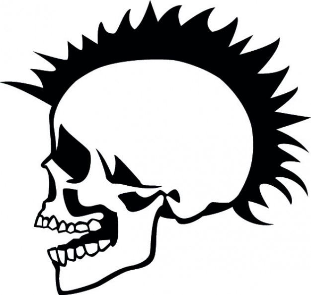 Punkschädelhalskette seite
