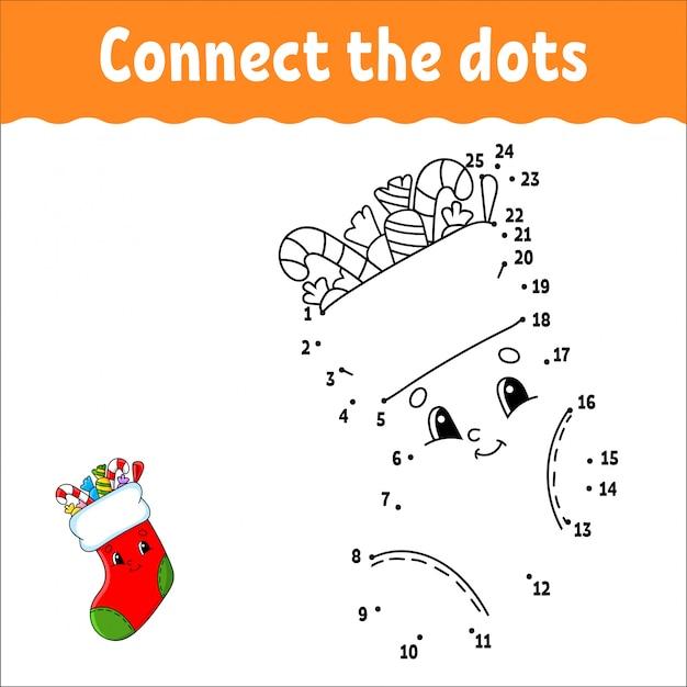 Punkt zu punkt. zeichne eine linie. handschrift-praxis. zahlen lernen für kinder. aktivitätsarbeitsblatt. mit antwort.